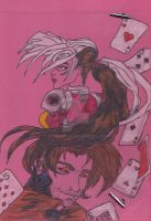 Gambit and Rogue by stormhelen