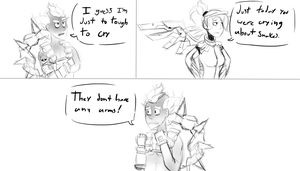 They don't have any arms! - Overwatch by NecroGhostMango