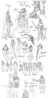 Tolkien Sketches 01 by Toradh