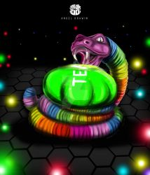 DIBUJO SLITHER.IO FANART SLITHERIO agario by AngelDrawin