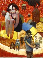 Detached Floating Girl by jasinski