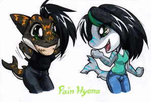 2014 08-18 Chibisharks Digitalshading by Pain-hyena