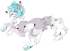 Water Boi- Adopt Auction (CLOSED) by MintyCatwolfDA