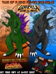 GODZILLA DESTROY ALL MONSTERS MELEE COMIC AD by SaintNick14