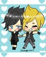 Noctis and Prompto by DreamySheepStudios