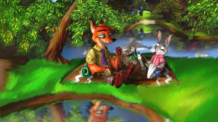 Nick and Judy by MrRacoon