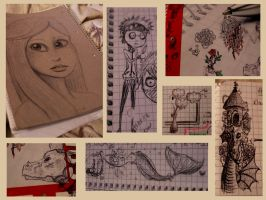 Sketches of the last weeks by Zebrapluschi