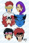 X-Men Blue Heads 2019 5-9 by LucasAckerman
