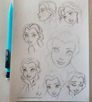 Belle Sketches  by kinkei