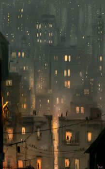 It s a hot night and I can t sleep. by PascalCampion