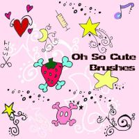 Oh So Cute brushes by Red--Roses