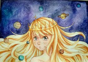 The Solar System by Shiimosa