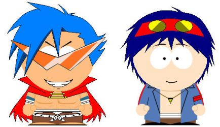 South Park Kamina and Simon by grimmjack
