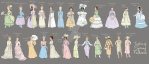 Timeline of Spring Fashion by a-little-bit-lexical