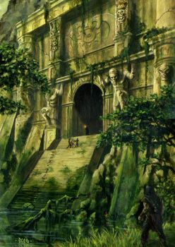 Ancient temple by Nordheimer