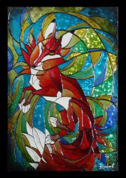 Fox ''stained glass'' by rivalmit