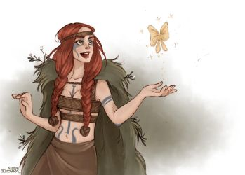 Aoife the druidess by Ninidu