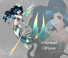 [CLOSED] AUCTION Mermaid Warrior by WhiteLie-Adopt