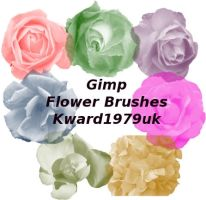 Gimp flower brush's by kward1979uk