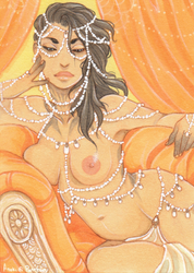 Golden Queen ACEO by Anoki-Doll