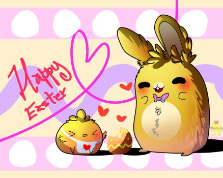 Happy easter day! [ Springbonnica edition ] by Aunty-chick