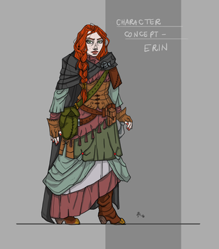 Erin Concept Art by Vestele