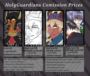 Holyguardians Comission Price [open] by ChaosNightWolfie