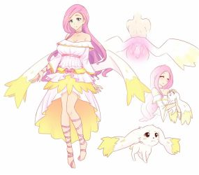 Angel Bunny Fluttershy by JonFawkes