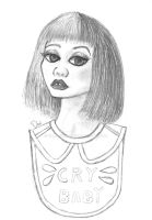Melanie Martinez Cry Baby Sketch by Blabbercat