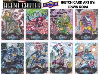 Agent Carter sketch cards 01 by EuROPA777