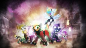 Wallpaper ~ The Power Ponies. [VIP] by Makkah-Chan
