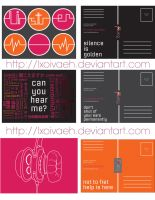 Graphic Design Postcards by lxoivaeh