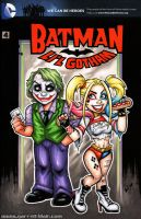 Lil Harley Quinn + Joker sketch cover by gb2k