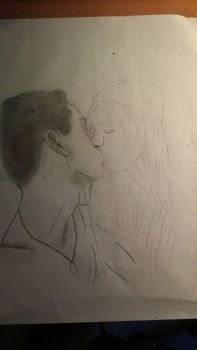 drawing my boyfriend and me  by zita952