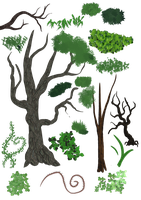 Brushes: Trees, Plants and Grass by Amelius