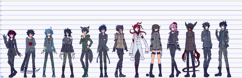 Height Chart - Heroes by Elsiikun