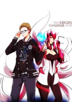 TSM Bjergsen and Challenger Ahri by SkyeExcalibur