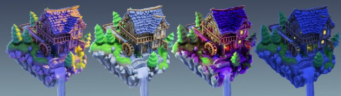 Isometric Medieval House by LoserMcCrappyart