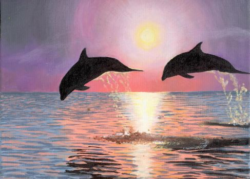 Rosie's Dolphins by Oliver-W00D