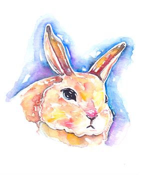Watercolour 17.09.17 - Glass Bunny 2 by N2Y88