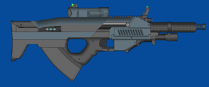 Blue Arms C.A.S M27A1 AR by andyshadow26