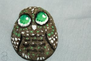 [ Painted Rocks ] Owl by Dreamsverse