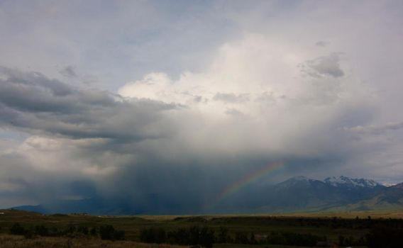 Cloudburst and Rainbow by LakeFX