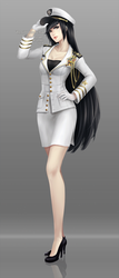 Commission: Navy officer Akiko by ZenithOmocha
