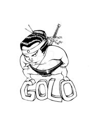NINJA SUMO FOR THE ARTIST GOLO by vincoboy