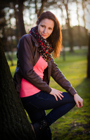 Ivana, sunset in park I by Zavorka