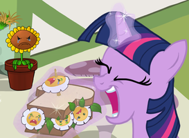 Twilight Eating Marigolds by THAT1ANDONLY