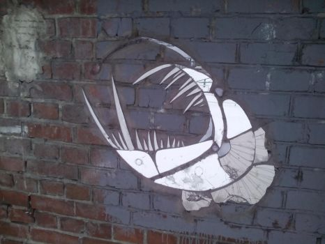 and another angler by skyfishstreetart