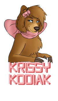 Krissy Kodiak Badge - Art trade by Silenthowl7