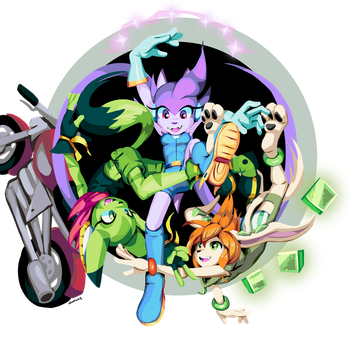 Freedom Planet Twister by goshaag